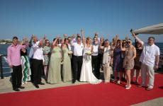 Angela & Ed's Limassol Pier Wedding
