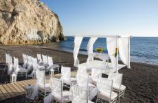 Santorini Horizon Beach Bar Wedding & Reception