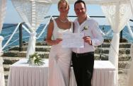 Angela & Ed's Pier Wedding in Cyprus