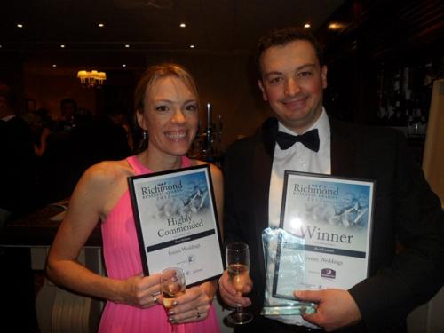Ionian Weddings wins two Awards in Richmond Business Awards 2012