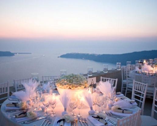 Luxury Wedding Venue With Private Beach: Weddings In Santorini