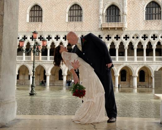Venice Palazzo Cavalli Wedding Panoramic Rooftop Reception