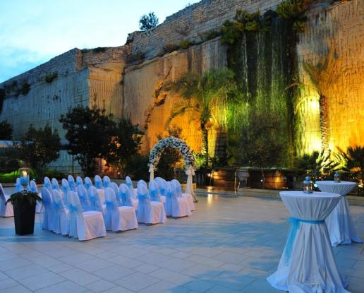 Malta Waterfall Gardens Wedding And Reception