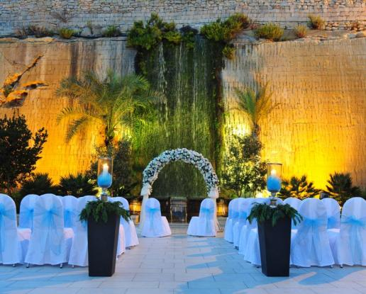 Malta Waterfall Gardens Wedding And Reception